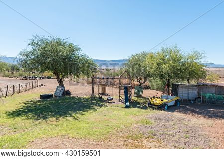 Beaufort West, South Africa - April 3, 2021: Childrens Playground At The Caravan Park At Steenbokkie