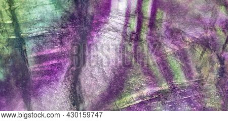 green and lilac fluorite texture macro photo
