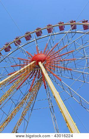 Largest ferris wheel in Ukraine. Odessa Shevchenko Park poster