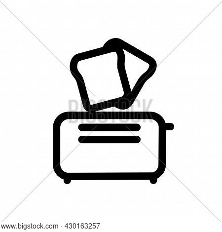 Toaster Vector Icon. Toaster Isolated Line Icon.