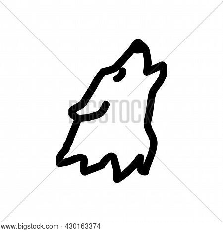 Wolf Isolated Vector Icon. Wolf Line Icon.