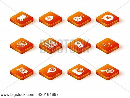 Set Office Folders, Location Service, Stop Virus, Bacteria, Download Inbox, Question And Exclamation