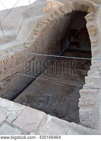 Royal Burial Complex Of Historical Site Haft Tepe, Shush, Iran. City Above It Was Kabnak, Important