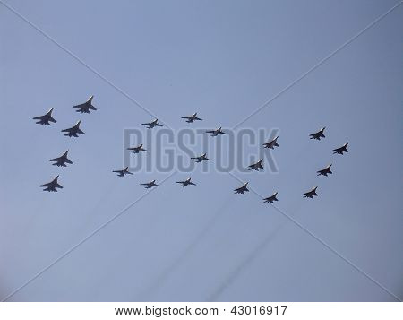 Figure 100 In Sky With Military Fighters