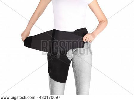 Hip Support Brace. Bandage Protector On The Hip Joint. Medical Compression Underwear. Groin Wrap.for