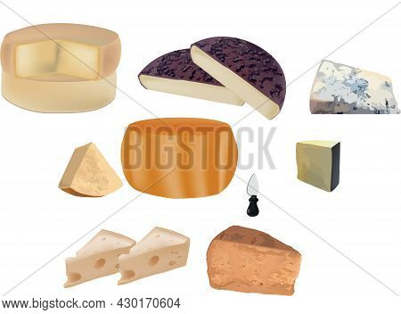 Loaded With Various Types Of Mature And Soft Cheeses