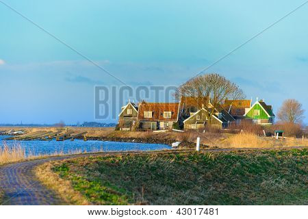 Marken ein kleines Dorf in den Niederlanden