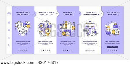 Loyalty Programs Trends Onboarding Vector Template. Responsive Mobile Website With Icons. Web Page W