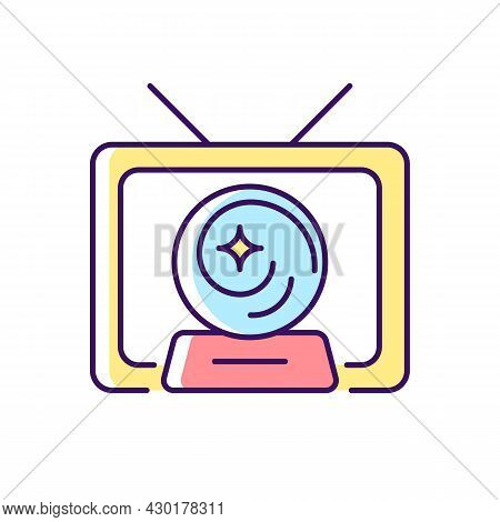 Mystic Show Rgb Color Icon. Mystery Series On Television Channel. Fun Tv Serial With Fantasy And Mag