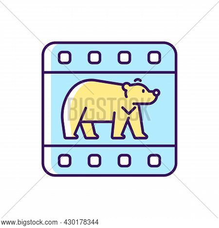 Wildlife Documentary Rgb Color Icon. Educational Television Series About Animals. Streaming Tv Show