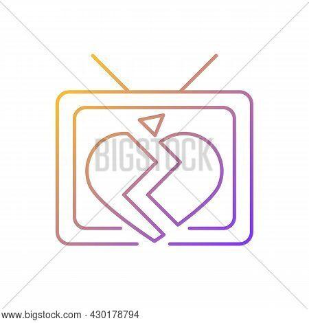 Soap Opera Gradient Linear Vector Icon. Tv Drama Series. Sentival Film With Love Plot. Romantic Seri
