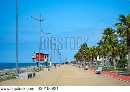 The Coastline Of The Embankment Of The Resort Town Of Batumi In Georgia. Batumi, Georgia - 03.19.202