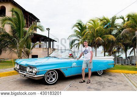 Varadero, Cuba - May 20, 2021: Oldsmobile Super 88 1959 In Cuba