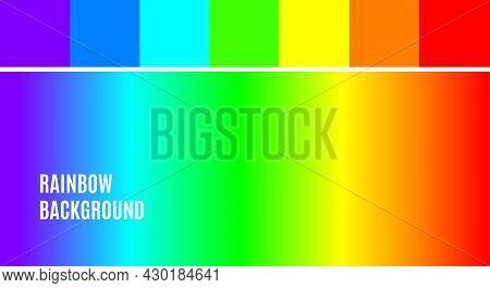 Bright Color Rainbow Background Wallpaper Abstract Multicolor Soft Gradient Effect Blur Texture. Vec