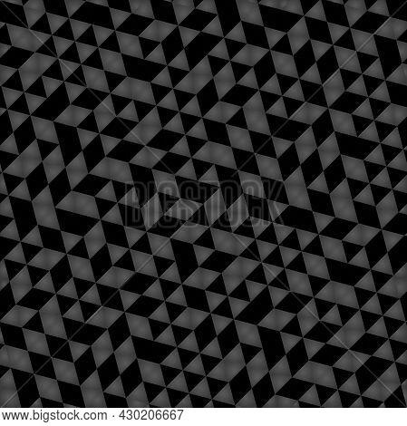 Geometric Vector Pattern With Dark Triangles. Geometric Modern Ornament. Seamless Abstract Dark Back