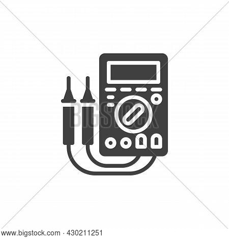 Digital Multimeter Vector Icon. Filled Flat Sign For Mobile Concept And Web Design. Electrical Measu