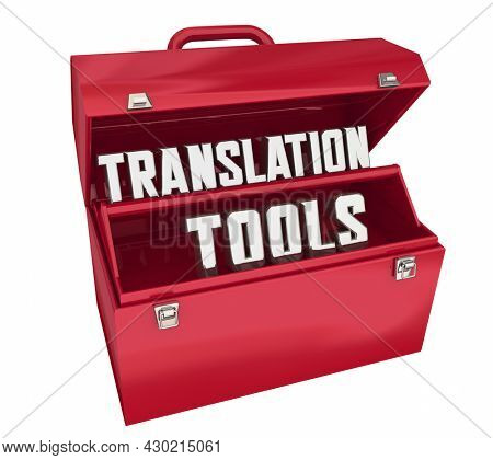 Translation Tools Resources Translate Toolbox Service 3d Illustration