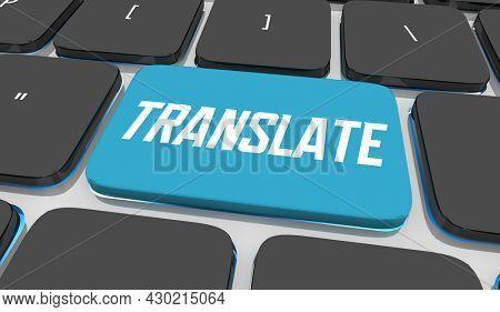 Translate Digital Online Translation Service Internet Language 3d Illustration