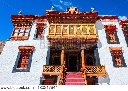 Likir Monastery Or Gompa In Likir Village Near Leh In Ladakh, North India