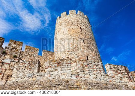 Tower At The Belgrade Fortress Or Kalemegdan Fortress, Located In The Centre Of The Belgrade City In