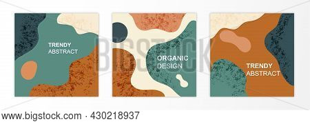 Trendy Vector Set. Minimalistic Concept With Strange Shapes. Abstract Shapes, Ideal For Backdrop For