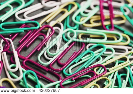 Colored Paper Clips Textured Background, Full Screen