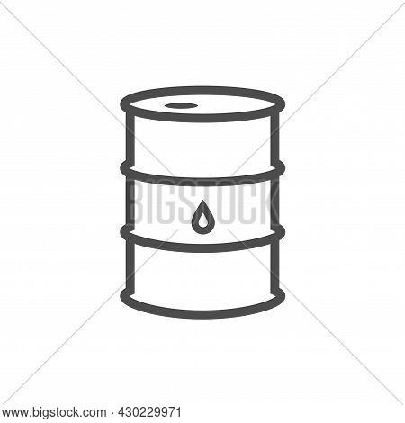 Oil Barrel Simple Icon. Ecology Pollution Toxic Chemicals Gas Petrolium Symbol. Vector Illustration