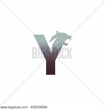 Letter Y With Panther Head Icon Logo Vector Template