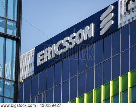 Bucharest, Romania - August 16, 2021: A Logo Of Ericsson, Swedish Multinational Networking And Telec