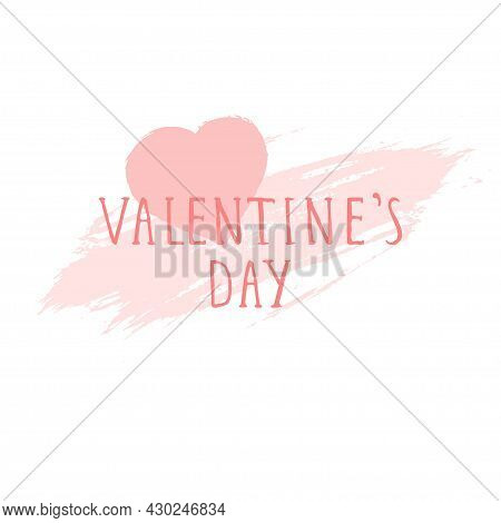 Valentine's Day Card. Background With Grunge Heart. Templates For Label, Poster, Banner, Flyer And O