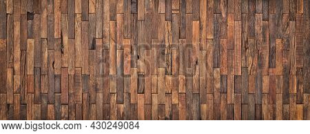 Wooden Wall Panel From Vintage Boards Background. Wooden Texture