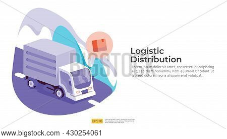 Logistic Distribution Cargo Service Concept. Global Delivery Worldwide Import Export Shipping Banner