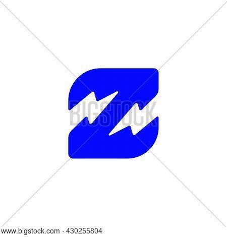 Letter Z Flash Thunder Energy Simple Geometric Logo Vector