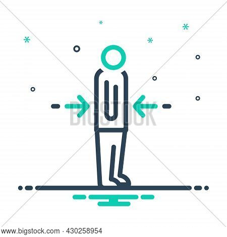 Mix Icon For Lean Lanky Thin Weakly Lank Spindly Svelte Feeble Slant
