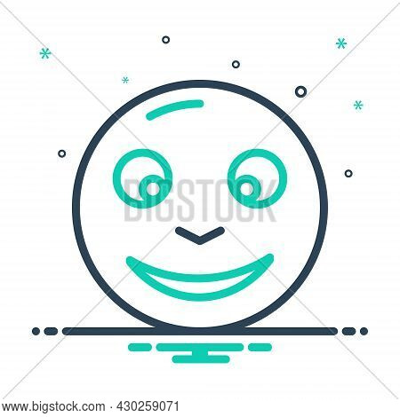 Mix Icon For Glad Cheery Complacent Hilarious Jolly Thrilled Delighted Pleased Tickled-pink