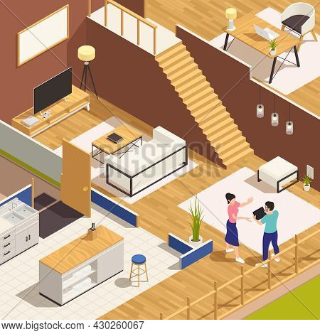 Interior Designer Adjusting Family House Refurnishing Project In Accordance With The Owner Wishes Is
