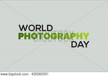 World Photography Day Vector Illustration. Celebrate Photography Day.
