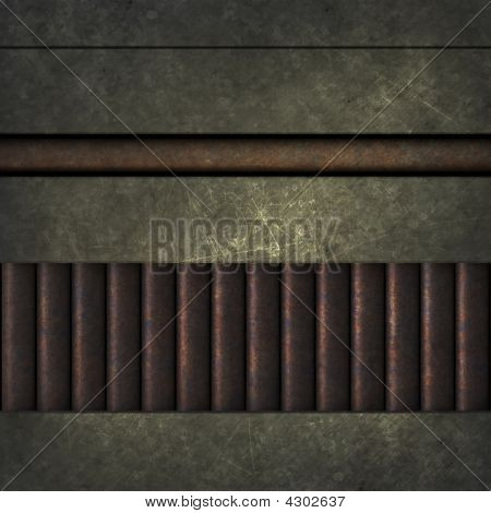 3d rendered illustration of a grey metal texture poster
