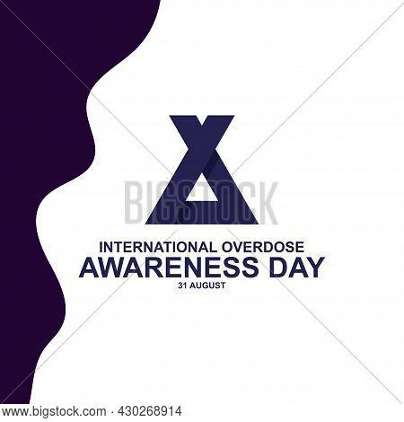Minimalist International Overdose Awareness Day Paper Cut Background Vector. Vector Illustration For