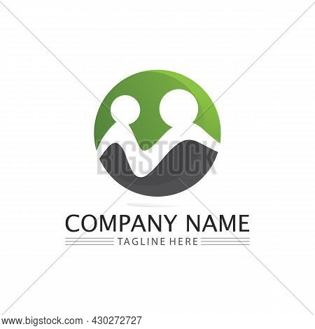 People Community,care Group Network And Social Icon Design Template