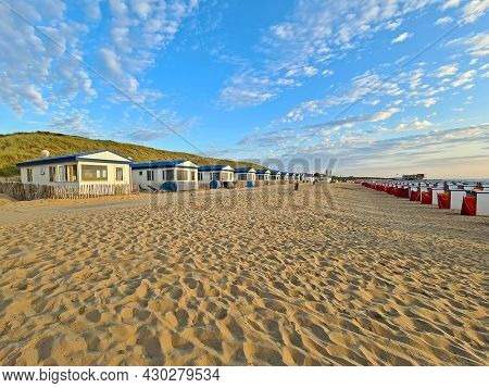 Beach houses at Katwijk aan Zee in the Netherlands