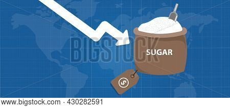 Sugar Price Down In International Commodity Market Export Import Trading