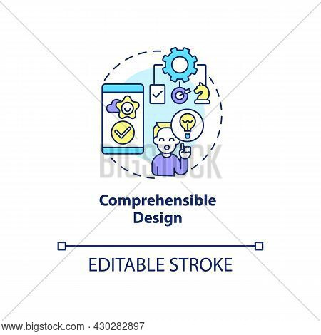 Comprehensible Design Concept Icon. Product Usage Abstract Idea Thin Line Illustration. Maintaining