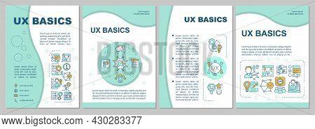Ux Basics Brochure Template. Identify User Abilities, Limitations. Flyer, Booklet, Leaflet Print, Co