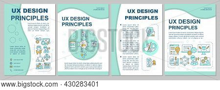 Ux Design Principles Brochure Template. Visually Aesthetic Ui. Flyer, Booklet, Leaflet Print, Cover