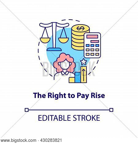 The Right To Pay Rise Concept Icon. Right To Get Payment Abstract Idea Thin Line Illustration. Entit