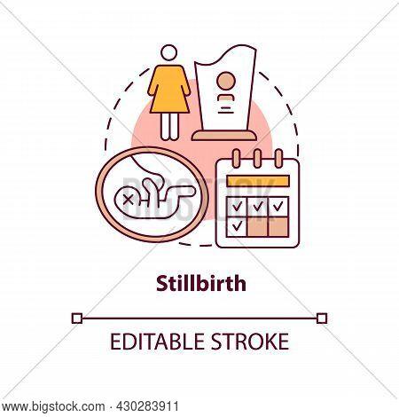 Stillbirth Concept Icon. Loss Of Baby During Labor Abstract Idea Thin Line Illustration. Statutory M