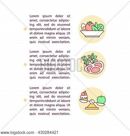 Making Menu Concept Line Icons With Text. Ppt Page Vector Template With Copy Space. Brochure, Magazi