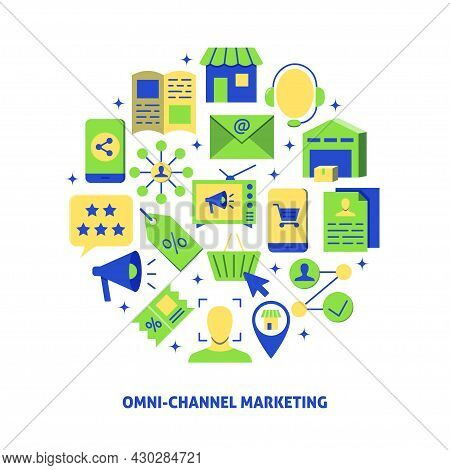 Omni-channel Marketing Banner With Place For Text