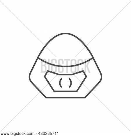 Motorcycle Windshield Line Outline Icon Isolated On White